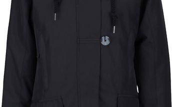 Černý dámský kabát s knoflíky Horsefeathers Sherby