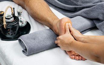 80 minut péče o chodidla včetně reflexní masáže