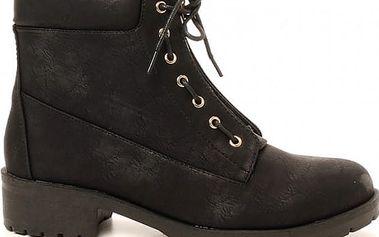 Dámské černé kotníkové boty Bega 238