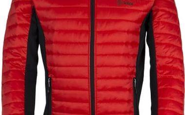 Pánská prošívaná bunda KILPI ISAIAH červená M