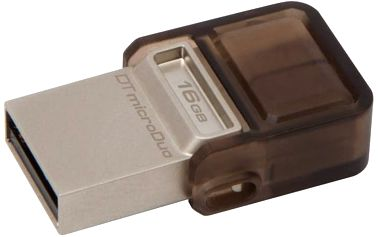 USB Flash Kingston DataTraveler MicroDuo 16GB OTG (DTDUO/16GB) hnědý