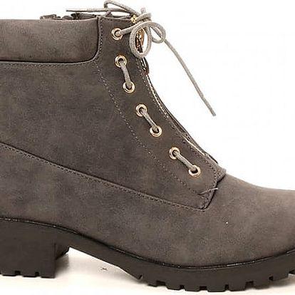 Dámské šedé kotníkové boty Bega 238