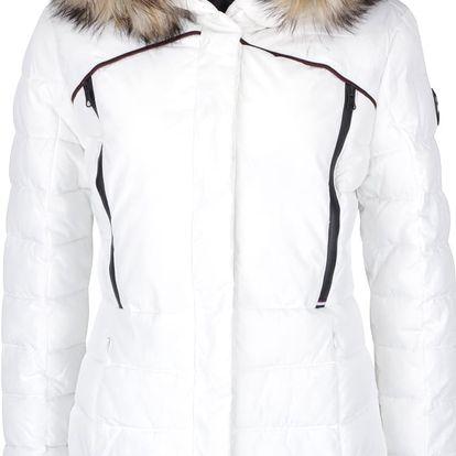 Krémová dámská prošívaná bunda s kapucí a umělým kožíškem Superdry