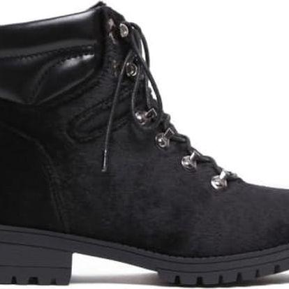 Dámské černé kotníkové boty Kentucky 8162