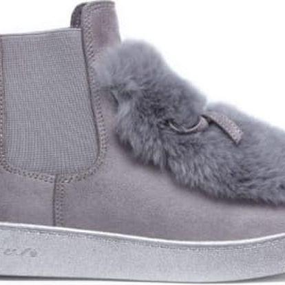 Dámské šedé kotníkové boty Chantelle 7109
