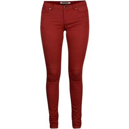 Cihlové slim fit kalhoty Noisy May Eve