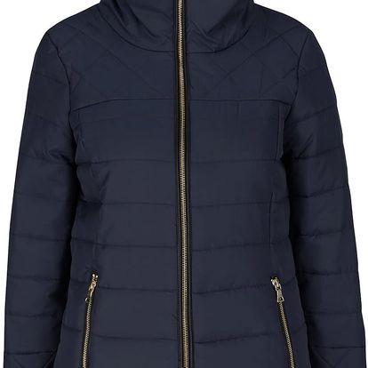 Modrá bunda s umělou kožešinou a vysokým límcem VERO MODA Helle