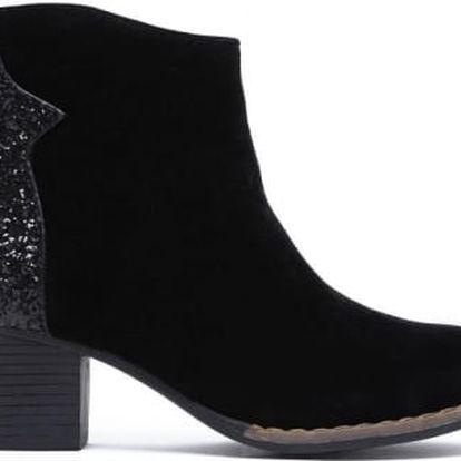 Dámské černé kotníkové boty Keila 6035