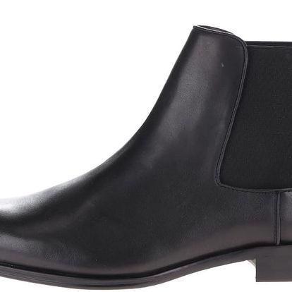 Černé pánské kožené chelsea boty ALDO Valbassa