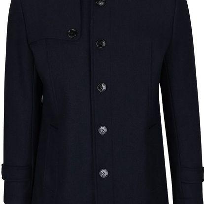 Tmavě modrý vlněný kabát Selected Homme Covent