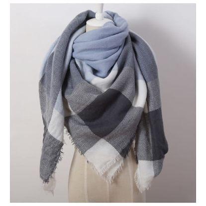 Obří pletená šála ve více vzorech a barvách
