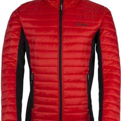 Pánská prošívaná bunda KILPI ISAIAH červená 3XL