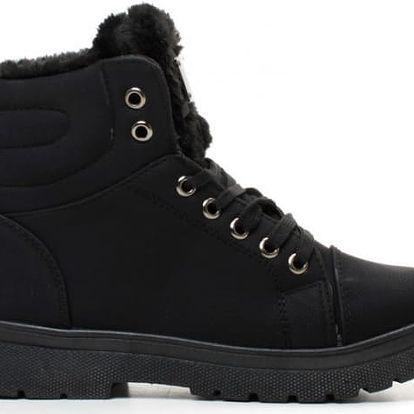 Dámské černé kotníkové boty Merinda 002