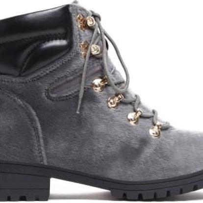 Dámské šedé kotníkové boty Kentucky 8162