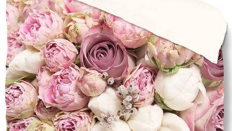 Povlečení Muller Textiel Pure Roses, 140 x 200 cm