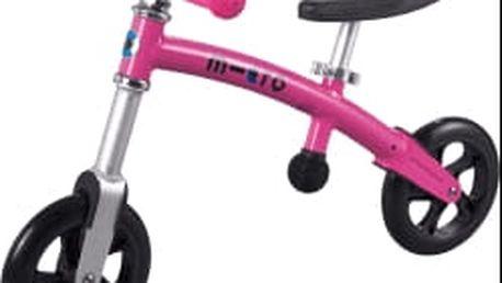 MICRO G-Bike+ Light odrážedlo, růžové
