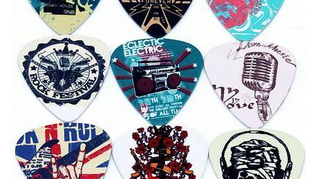 Sada 10 kusů stylových rockových trsátek - 0,71 mm
