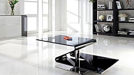 Benchlux Luxusní konferenční stolek sklo Itali Design