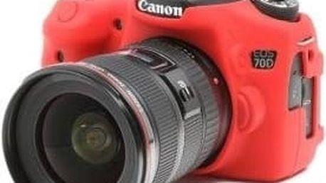 Easy Cover silikonový obal pro Canon 70D, červená - ECC70DR