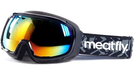 Meatfly Lyžařské brýle Aether 2 Goggles A Black, Red Chrome