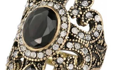 Dámský prsten s nápaditým kamenem - 2 barvy