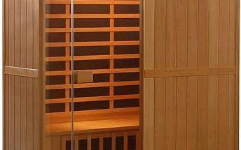 Infra sauna HealthLand DeLUXE 3300 CARBON + Doprava zdarma
