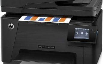 Tiskárna multifunkční HP Color LaserJet Professional M177fw (CZ165A#B19) černá + Kabel za zvýhodněnou cenu + Doprava zdarma