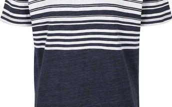 Tmavě modré triko s pruhy Selected Homme Form