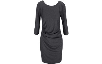 Tmavě šedé šaty s 3/4 rukávy VILA Gioli