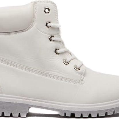 Dámské bílé kotníkové boty Cameron 094
