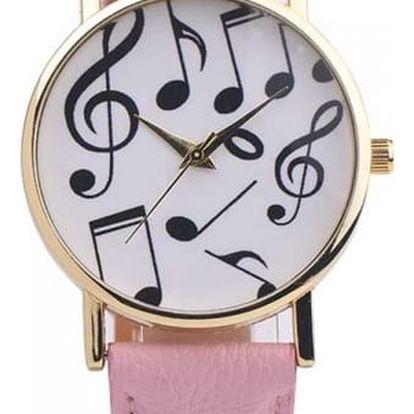 Dámské hodinky s hudebními motivy v mnoha barvách