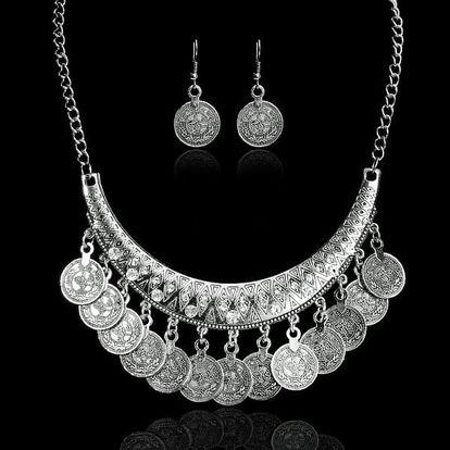 Dámský náhrdelník s náušnicemi - 3 barvy