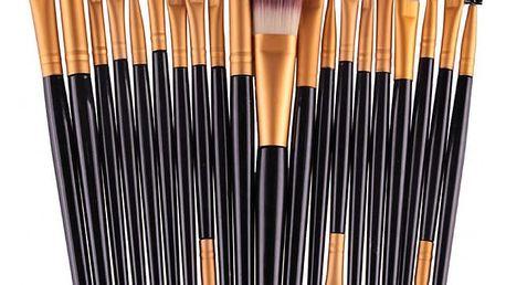 Sada kosmetických štětců pro dokonalé nalíčení očí - 20 kusů
