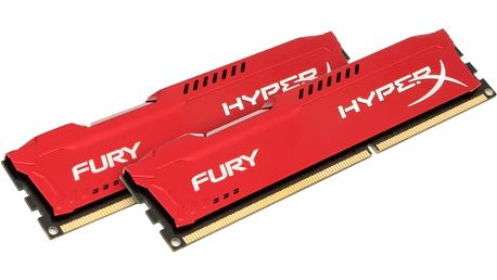 Kingston HyperX Fury Red 16GB (2x8GB) DDR3 1866 CL 10 - HX318C10FRK2/16