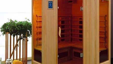 Infra sauna HealthLand DeLUXE 4440 CB/CR, rohová + Doprava zdarma