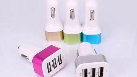 Nabíječka do automobilu se 3 USB sloty