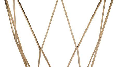 Zlatý konzolový stolek se zrcadlovou deskou J-Line Geometry - doprava zdarma!