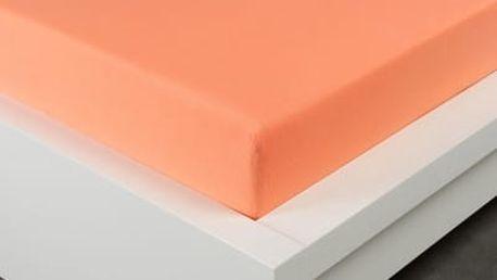 XPOSE ® Jersey prostěradlo dvoulůžko - lososová gramáž 150g/m 180x200 cm