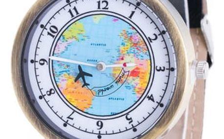 Cestovatelské hodinky s pohyblivým letadélkem