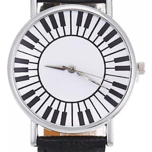 Dámské hodinky s motivem kláves - 5 barev