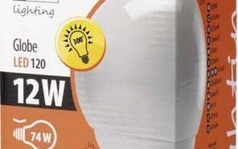 Žárovka LED EMOS globe, 12W, E27, studená bílá (LED-G120-SI-E27-12W-DL)