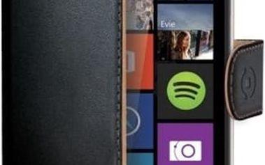 CELLY Wally pouzdro typu kniha Microsoft Lumia 640 / 640 Dual SIM PU kůže černé