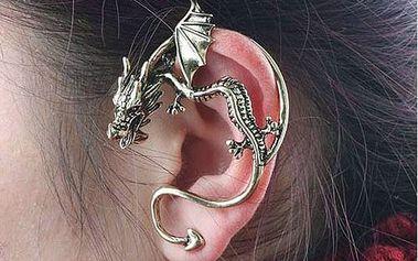 2 kusy náušnice ve tvaru draka - na celé ucho