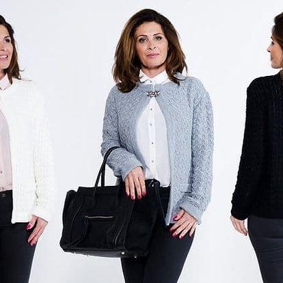 Elegantní svetr Paris s broží zdobenou kamínky ve 3 barvách