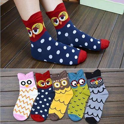 Roztomilé dámské ponožky se sovičkami
