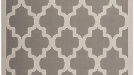 Stříbrný koberec Maroc, 80x150cm