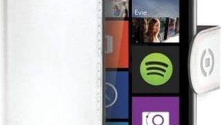 CELLY Wally pouzdro typu kniha Microsoft Lumia 640 / 640 Dual SIM PU kůže bílé