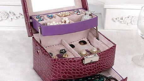 Šperkovnice s elegantní povrchovou úpravou