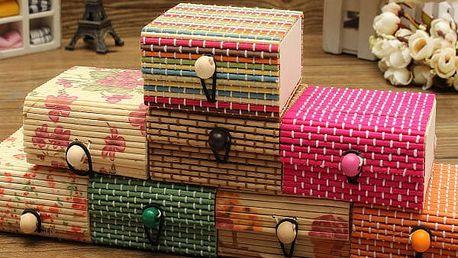 Šperkovnice z bambusového dřeva