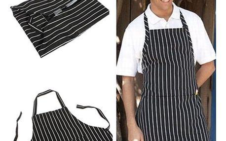 Pruhovaná kuchyňská zástěra